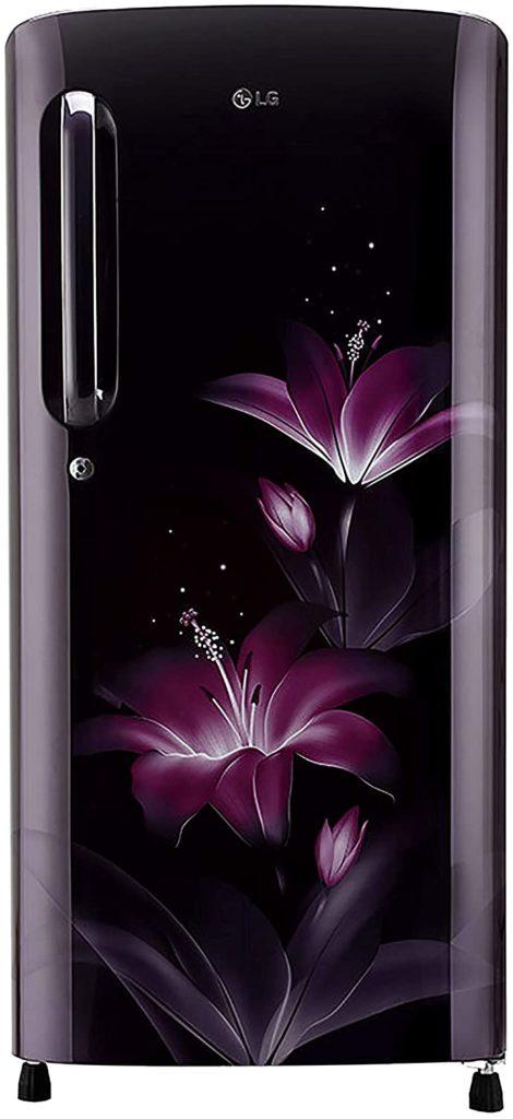 Best Refrigerator under Rs.15000 LG 190 L 4 Star Inverter Direct-Cool Single Door Refrigerator (GL-B201APGY, Purple Glow)