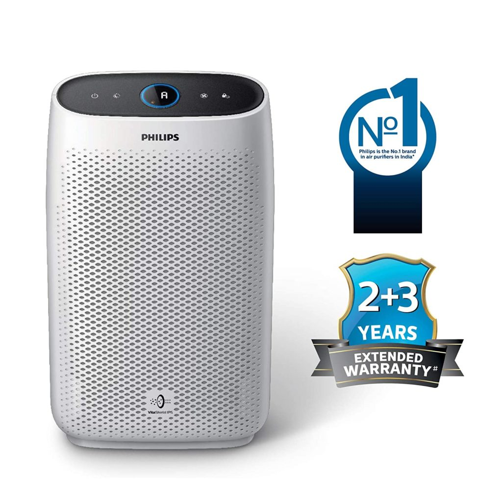 Philips AC121520 Air purifier, removes 99.97% airborne pollutants with 4-stage filtration