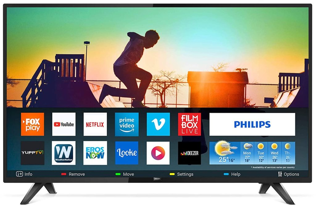 Philips 108 cm (43 inches) 5800 Series Full HD LED Smart TV 43PFT5813S94 (Black